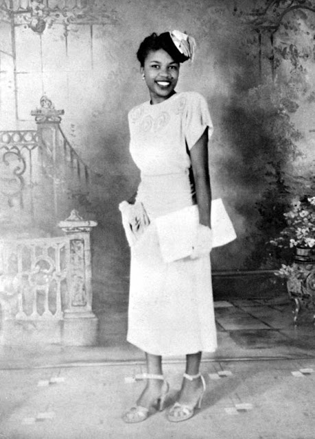 Lucille Baldwin Brown, first black county librarian in Tallahassee, c. 1940