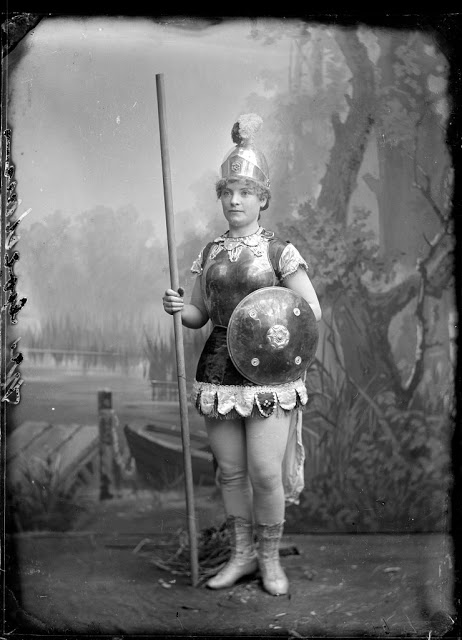 A woman dressed as Boudica or Mother England, Australia, c. 1900