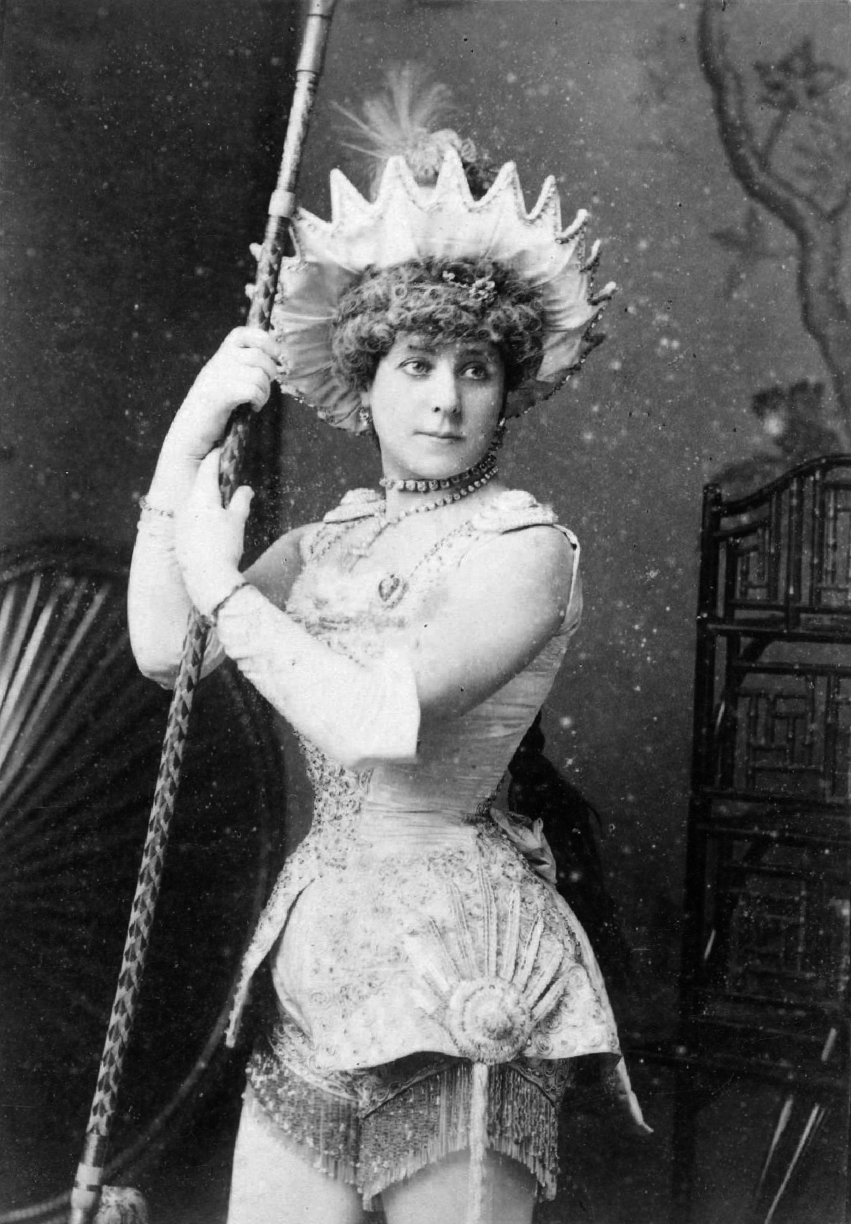 Nellie Farren in Aladdin, 1881 . Upcoming in Sotheby's auction. Photo by W. & D. Downey Photographers, London, via Wikimedia Commons