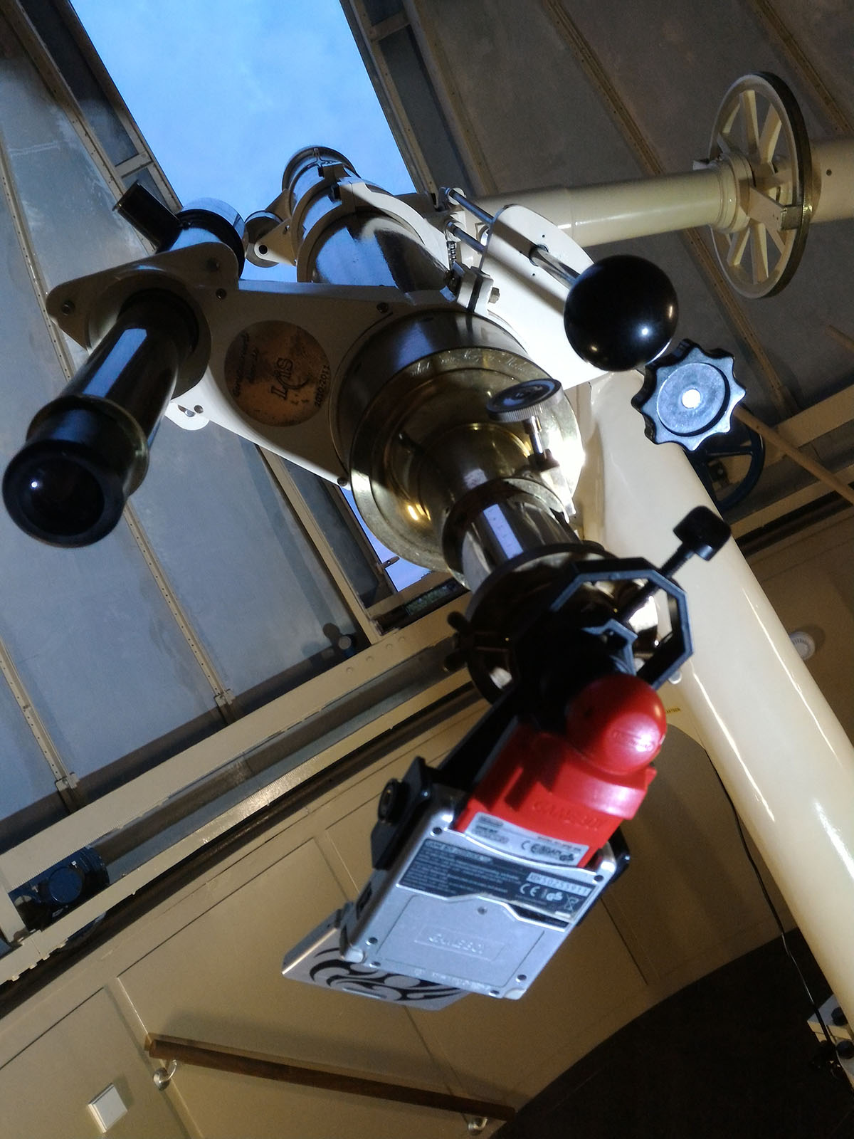 Game Boy Camera mounted to Fraunhofer telescope.