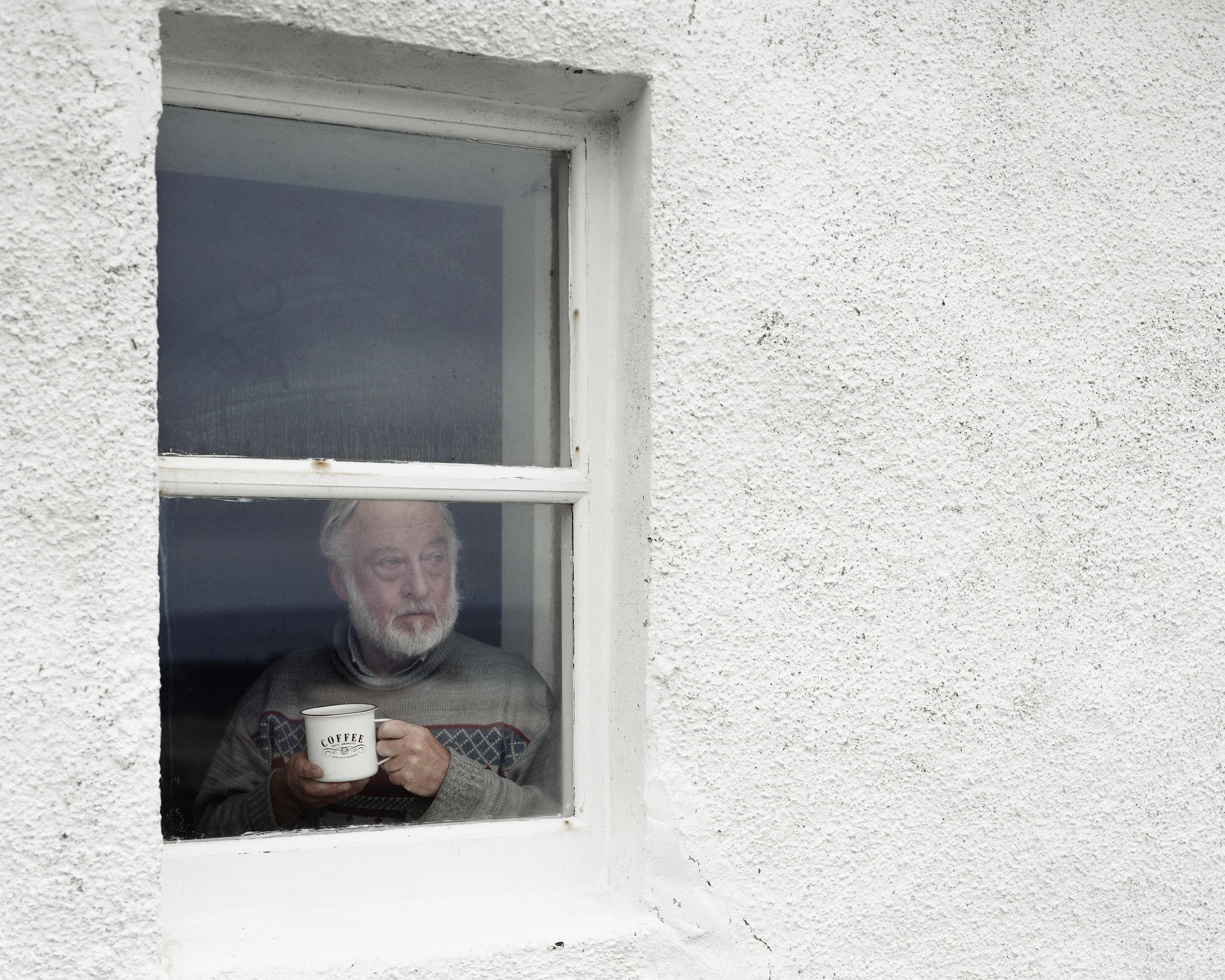 David at Kearvaig Bothy, Cape Wrath, Scotland