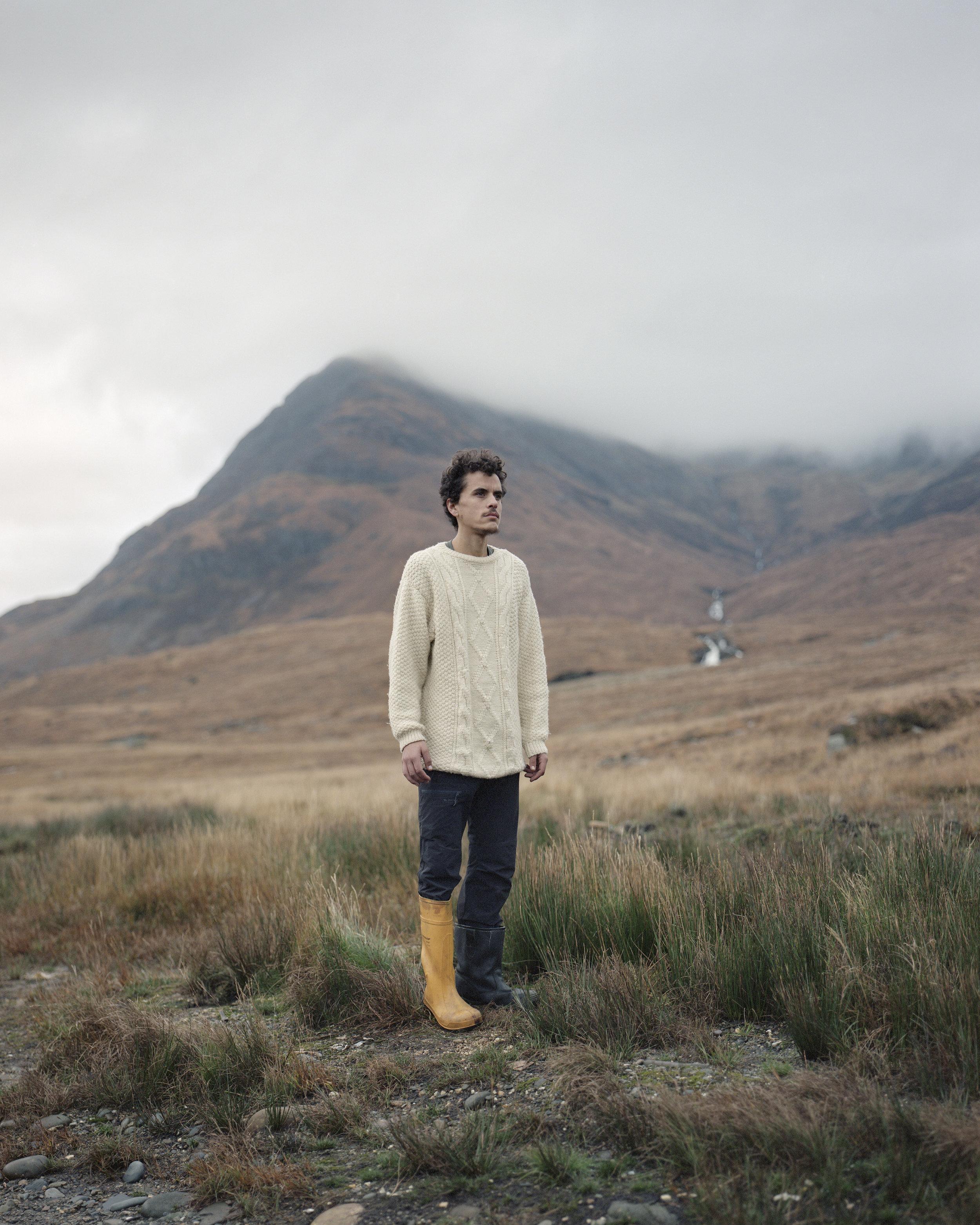 Giles at Camasunary Bothy, Isle of Skye, Scotland