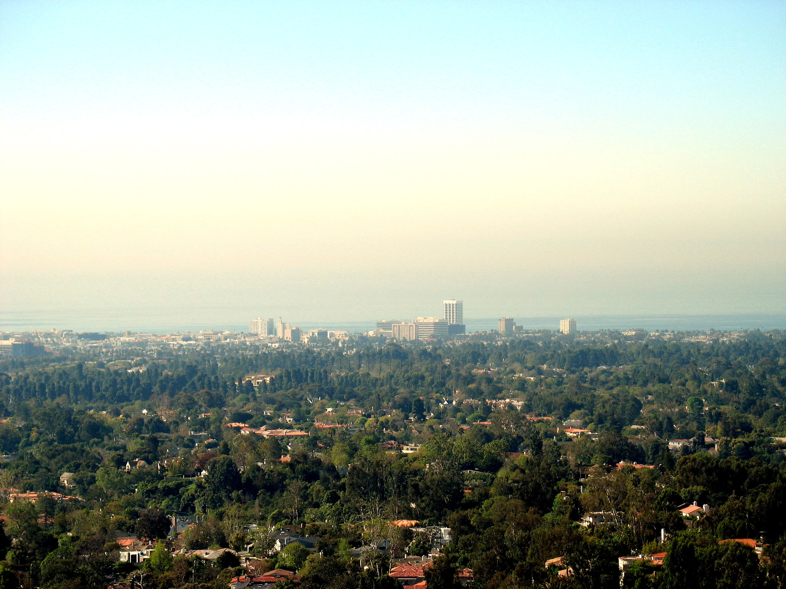 Santa Monica from the Getty Museum by Rennett Stowe via  Wikimedia Commons