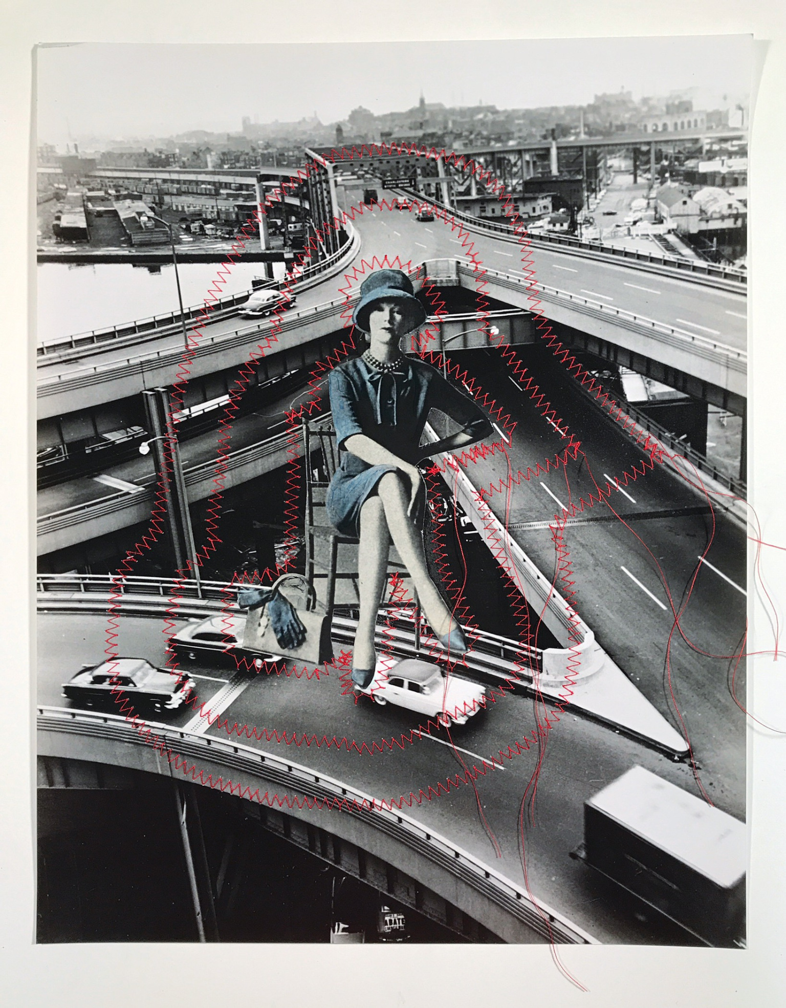 May 15, 2017,  Captain of Industry , silver gelatin print and collage mixed media, 14 x 11