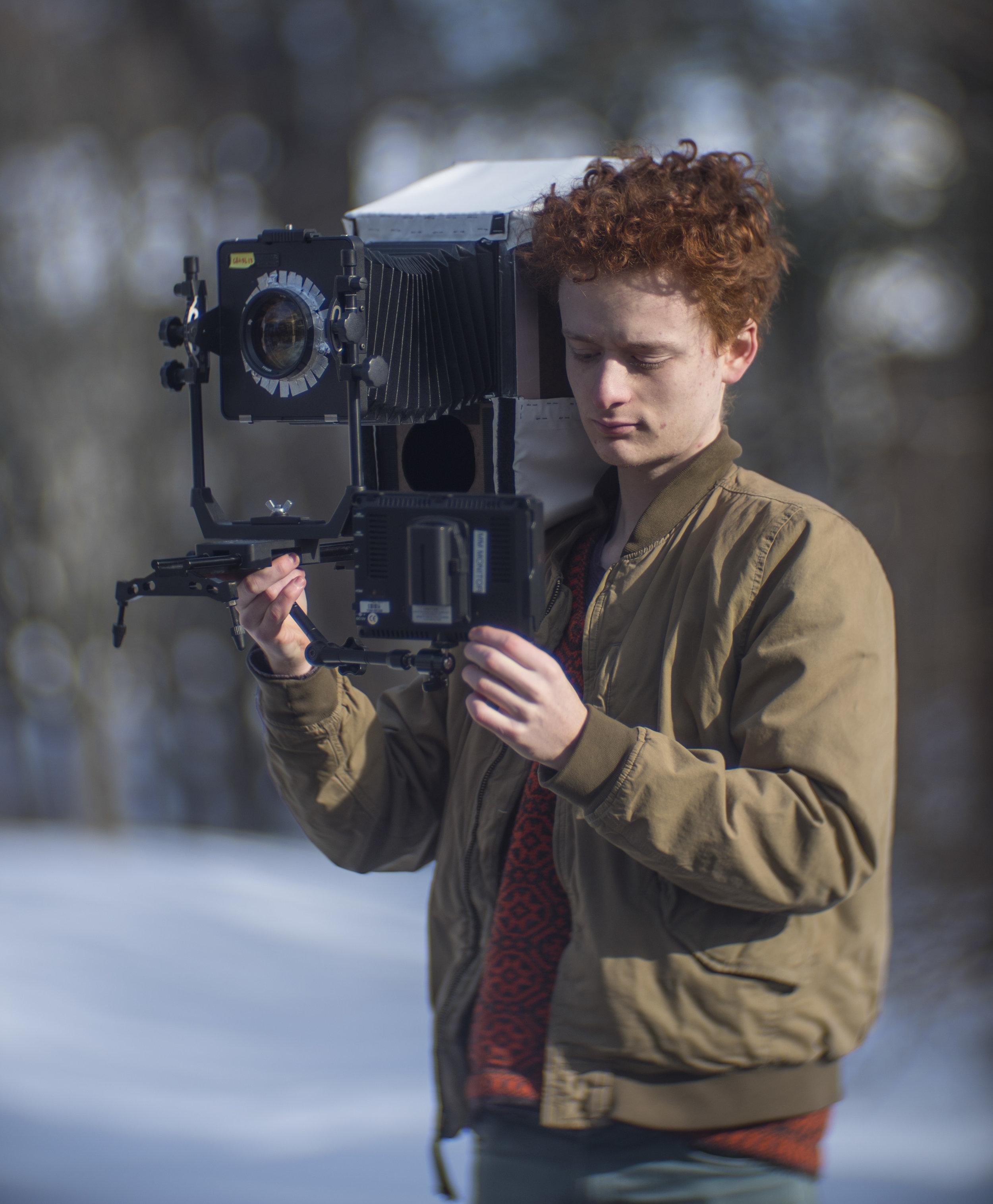 Zev Hoover's large format video camera
