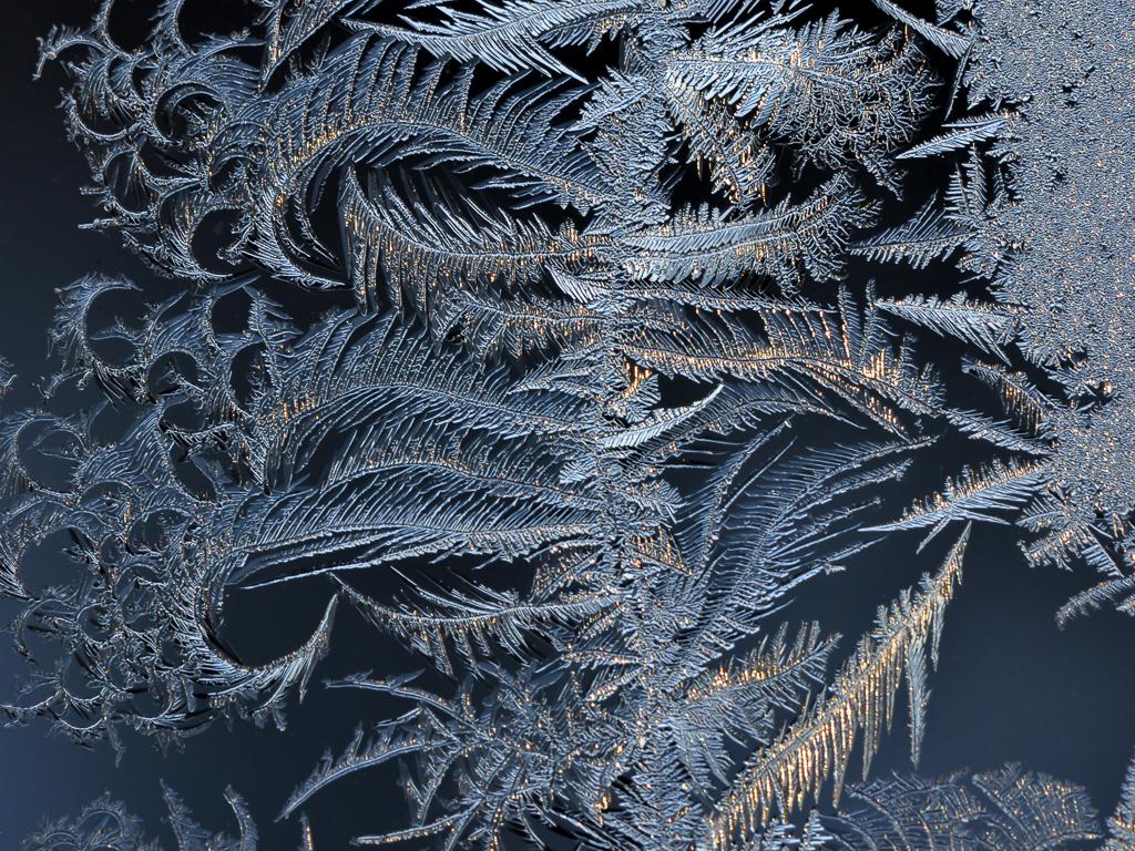 Winter Window Ice