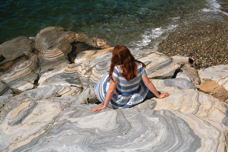 Untitled (Sinéad, lined rocks) ,  Ali Bosworth