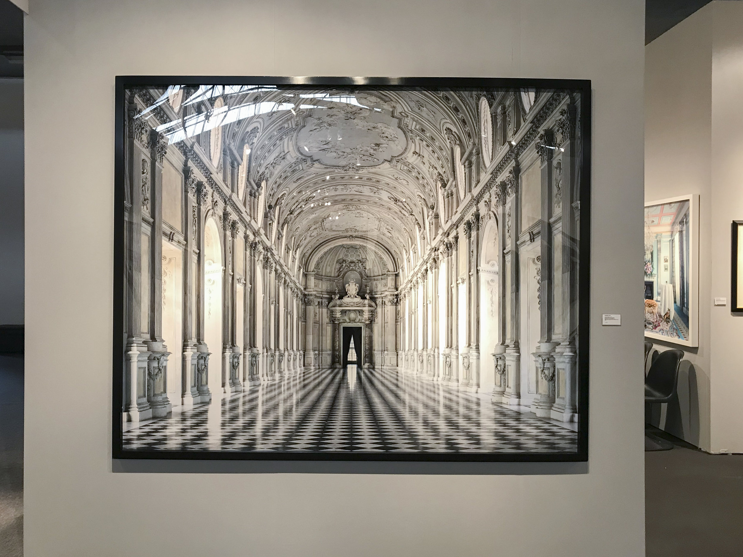Massimo Listri,  Venaria Reale VII, Torino , 2016, archival lambda color photograph, 70 7/8 x 88 5/8 inches. On view at Holden Luntz Gallery (Booth 100).