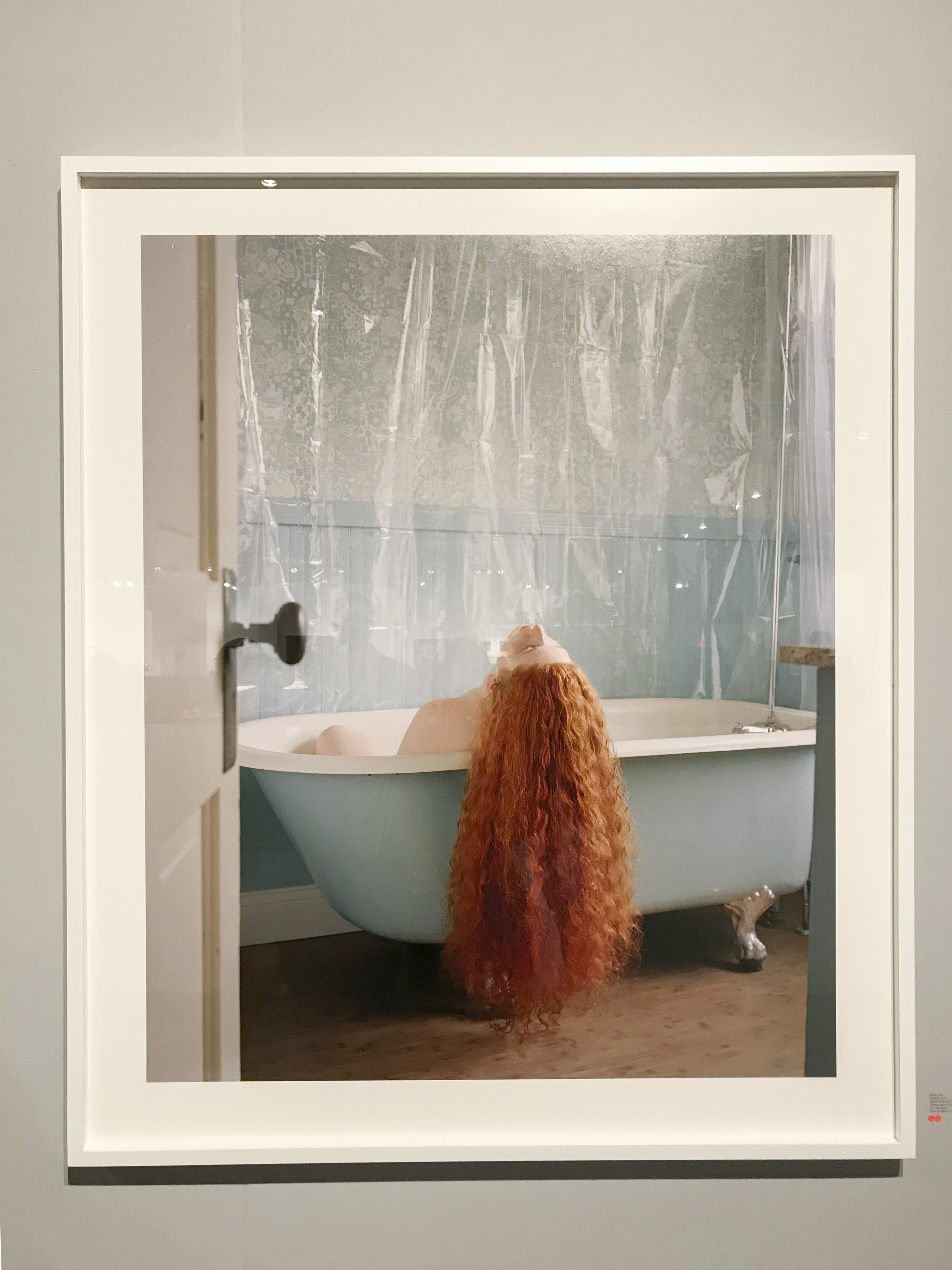 Jocelyn Lee,  The Bath , 2016, archival pigment print, 40 x 30 inches. On view at Huxley-Parlour Gallery (Booth 417).