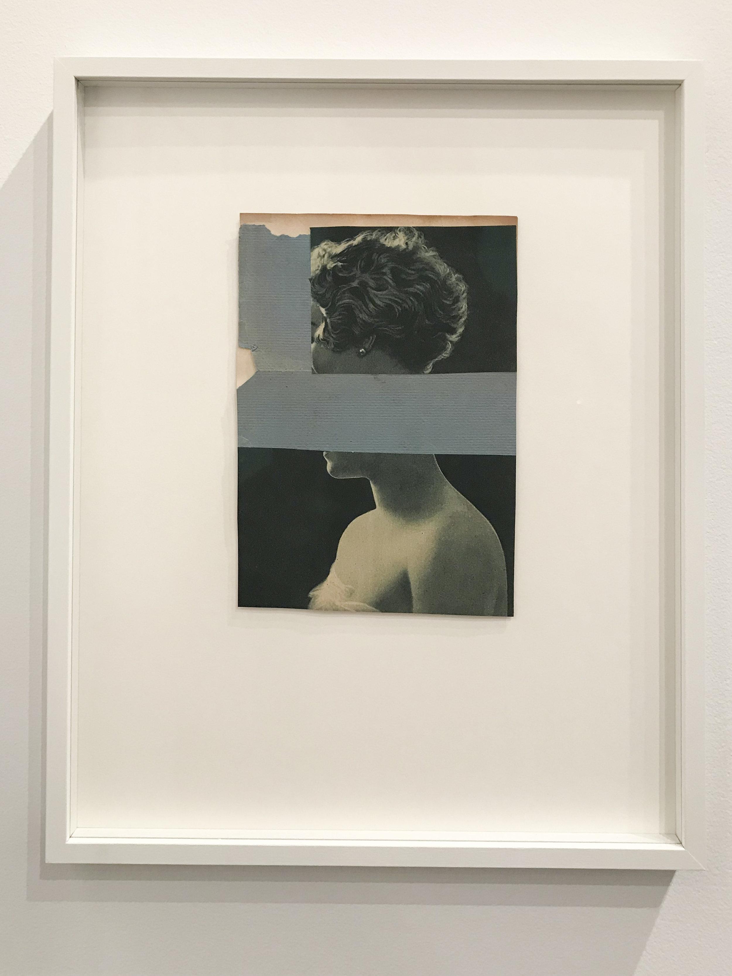 Katrien de Blauwer,  Painted Scenes , 2017, collage, 15 x 12 inches. On view at Galerie Les Filles du Calvaire (Booth 306).