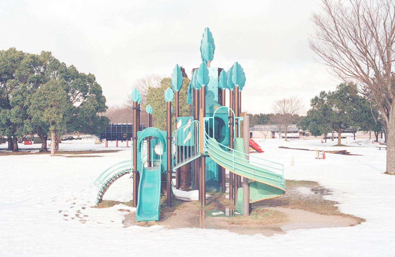 Playground 4  from the series  Seasonal Abandonment of Imaginary Worlds ,  Carine Thévenau