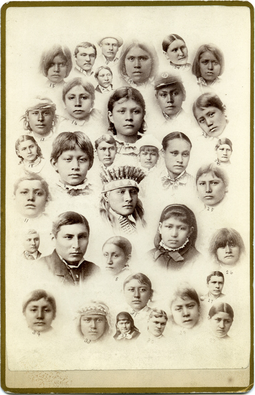 Choate, J. N. (John N.), 1848-1902, photographer,  Our boys and girls at the Indian Training School, Carlisle, PA , Native American Photographs,  American Antiquarian