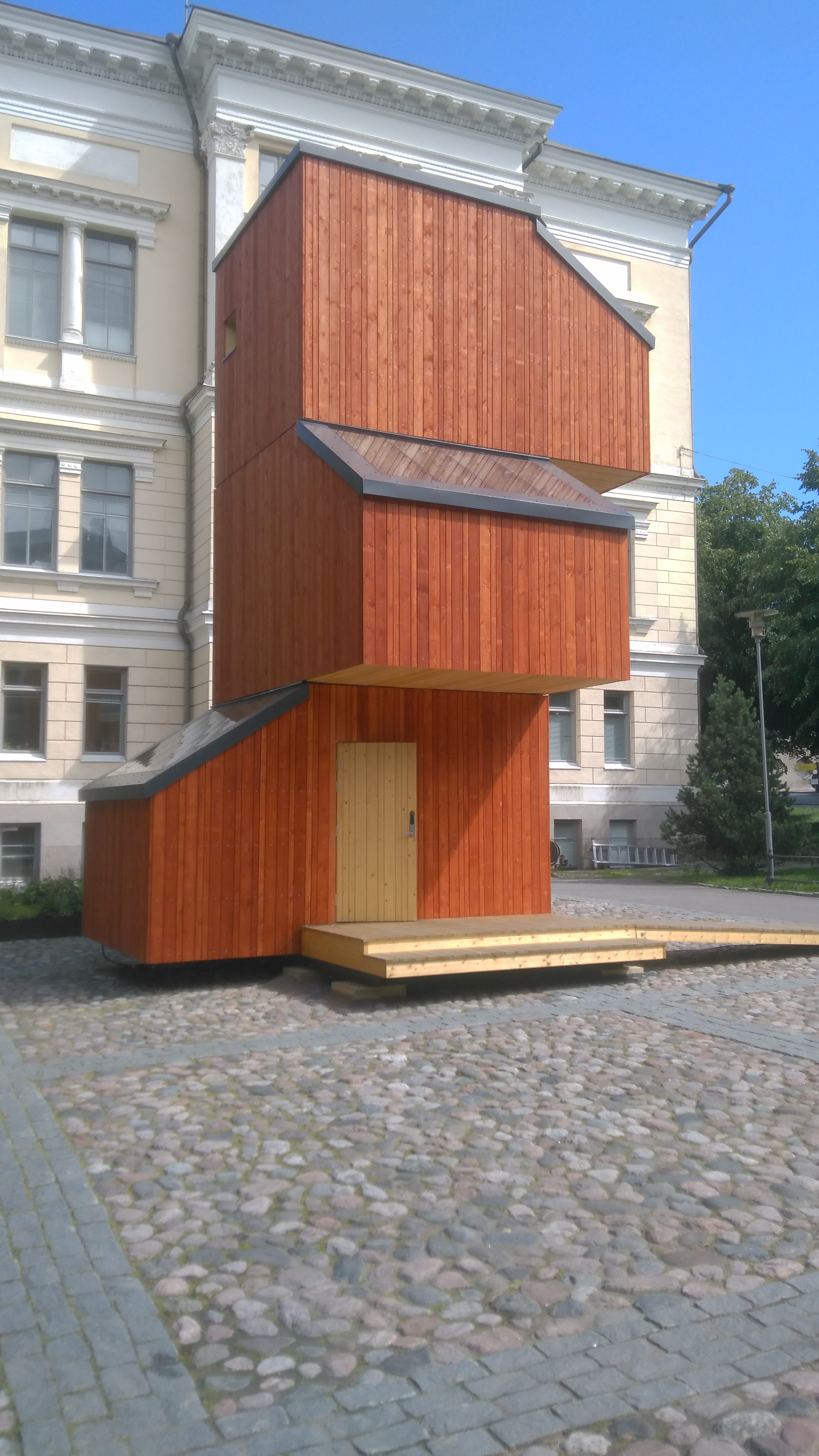 Wood studio pavilion, Museum of Finnish Architecture, Helsinki. By TTKK via  Wikimedia Commons