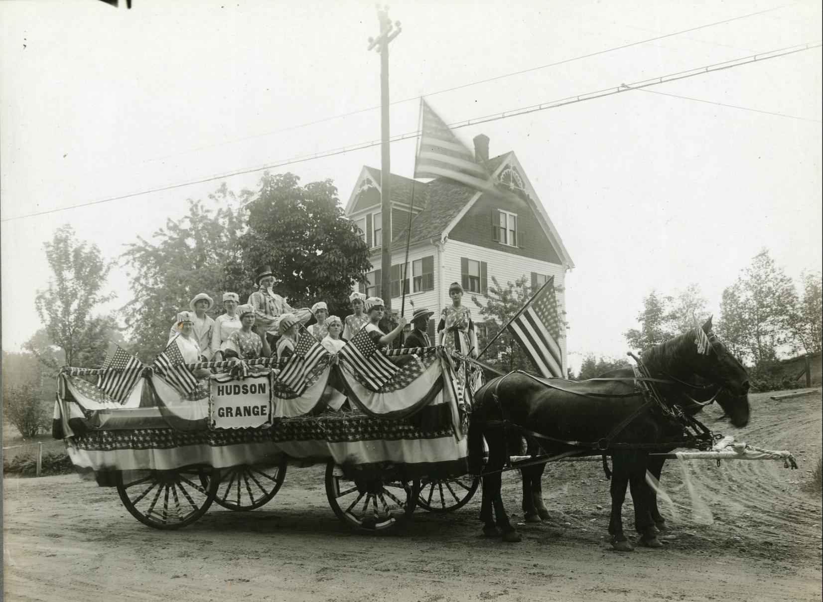 Hudson Grange Parade Float, 1916.