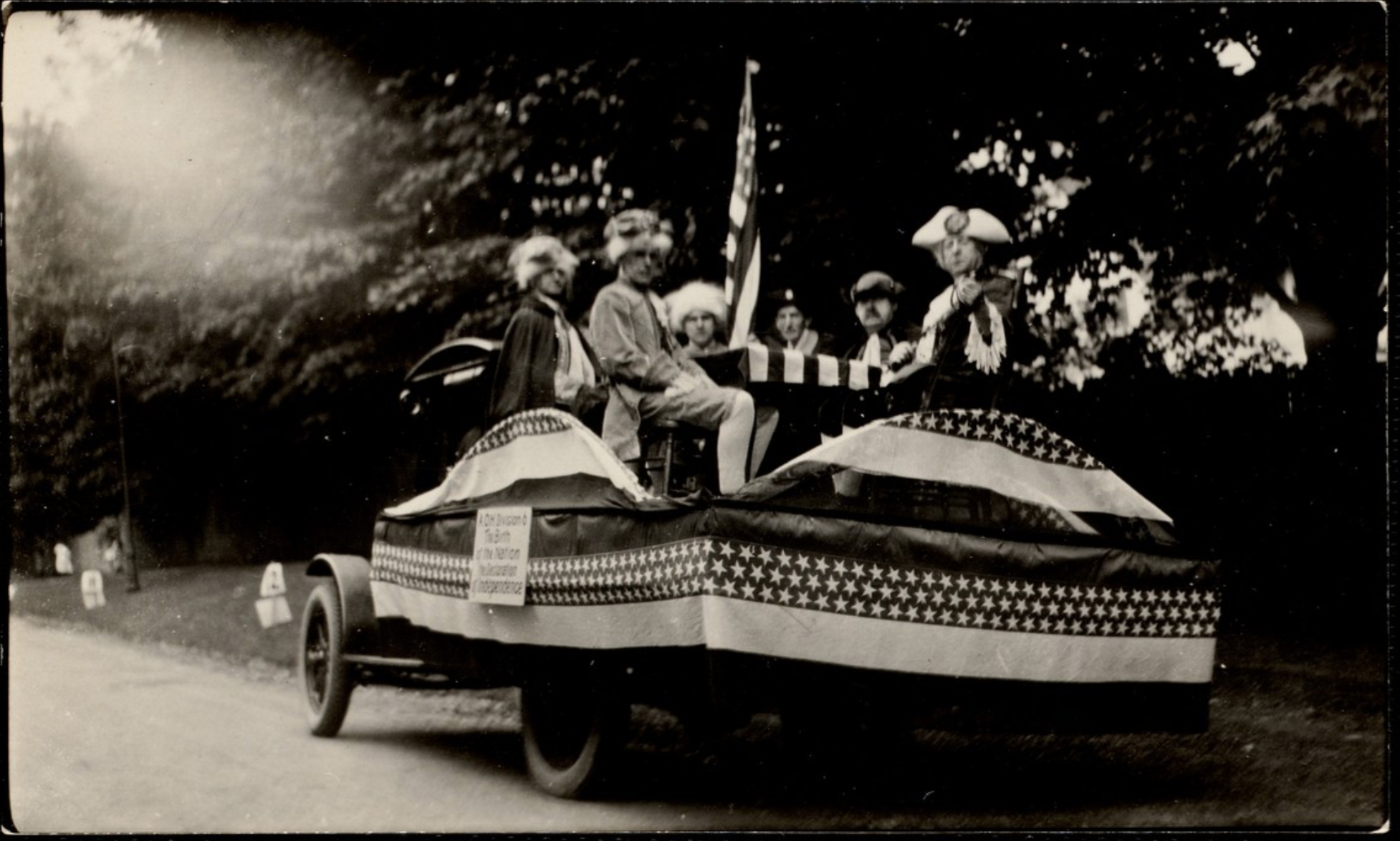 4th of July Parade: Birth of a Nation Float, 1922.