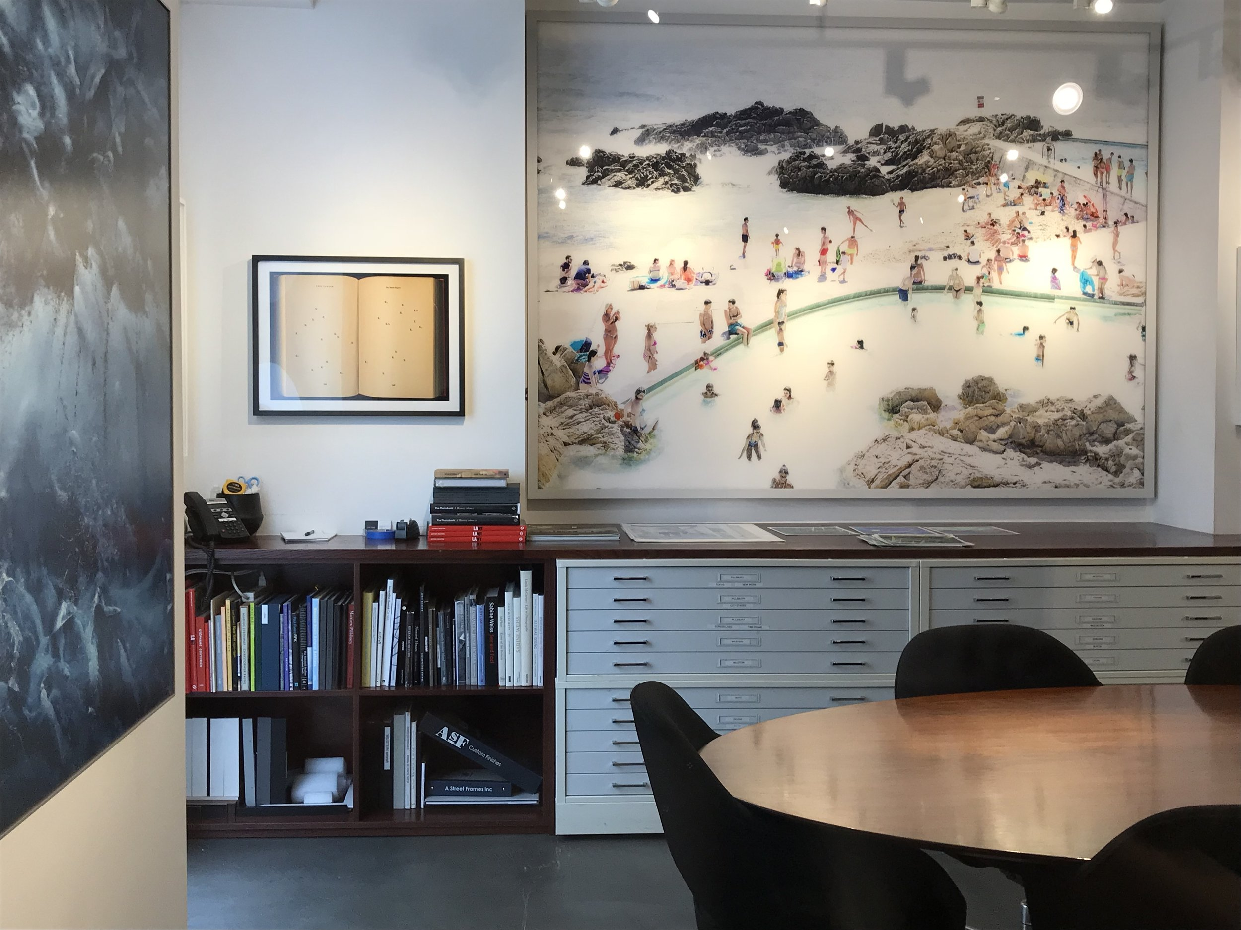 The office library at  Benrubi Gallery .