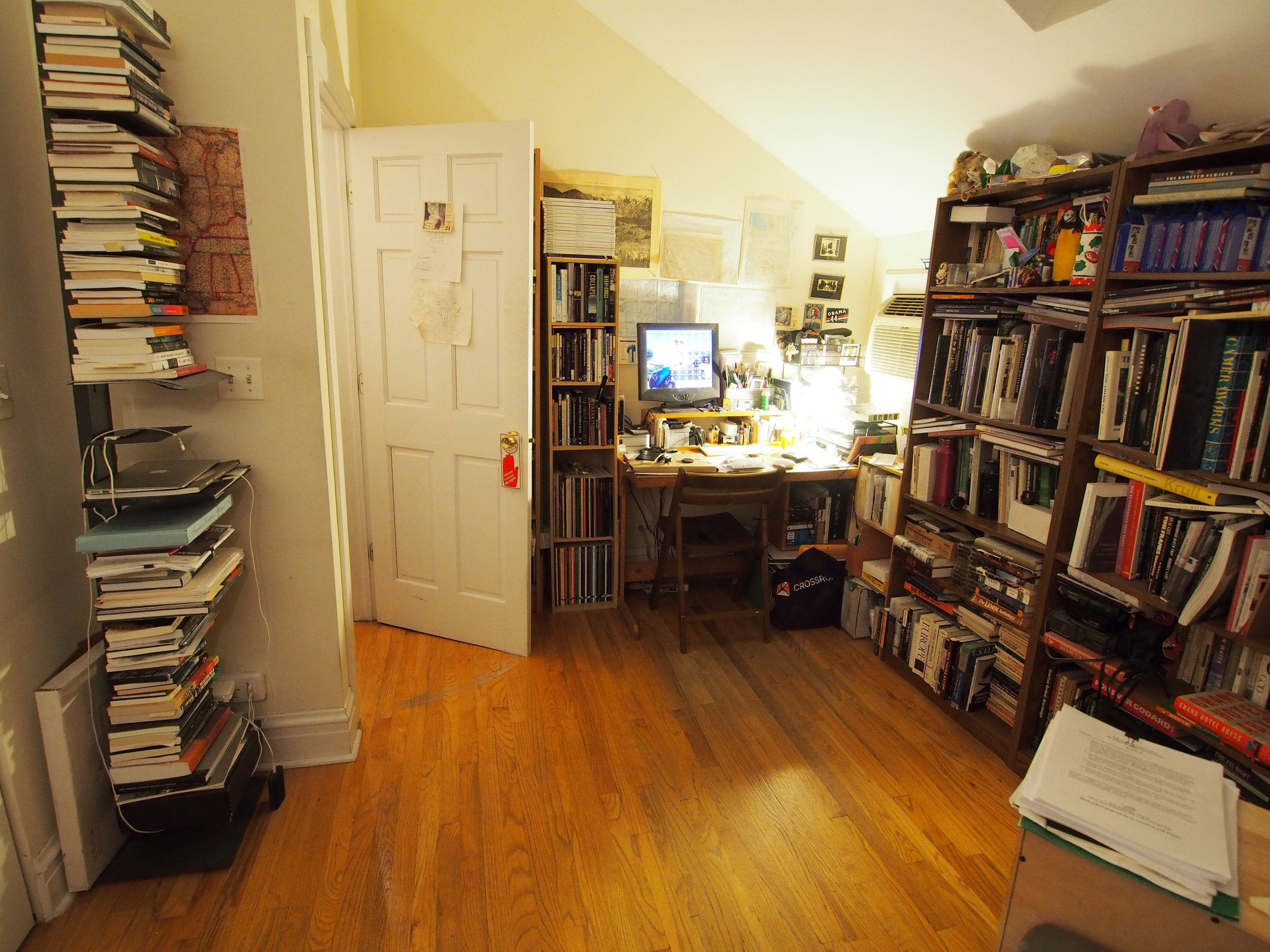 The photobook library in Steve Harp's home study.