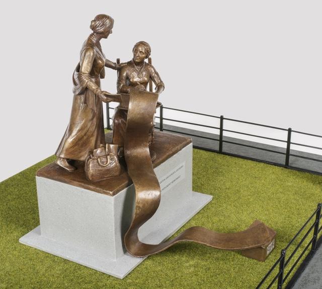 The new statue, coming in 2020. (Glenn Castellano, New-York Historical Society)
