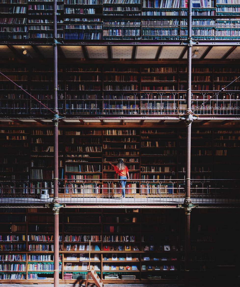 The astonishing art library at  Rijksmuseum . Submitted via  Instagram .