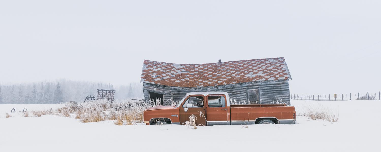 Frozen Truck, Springbank, Albert a,  Steve Blackwell