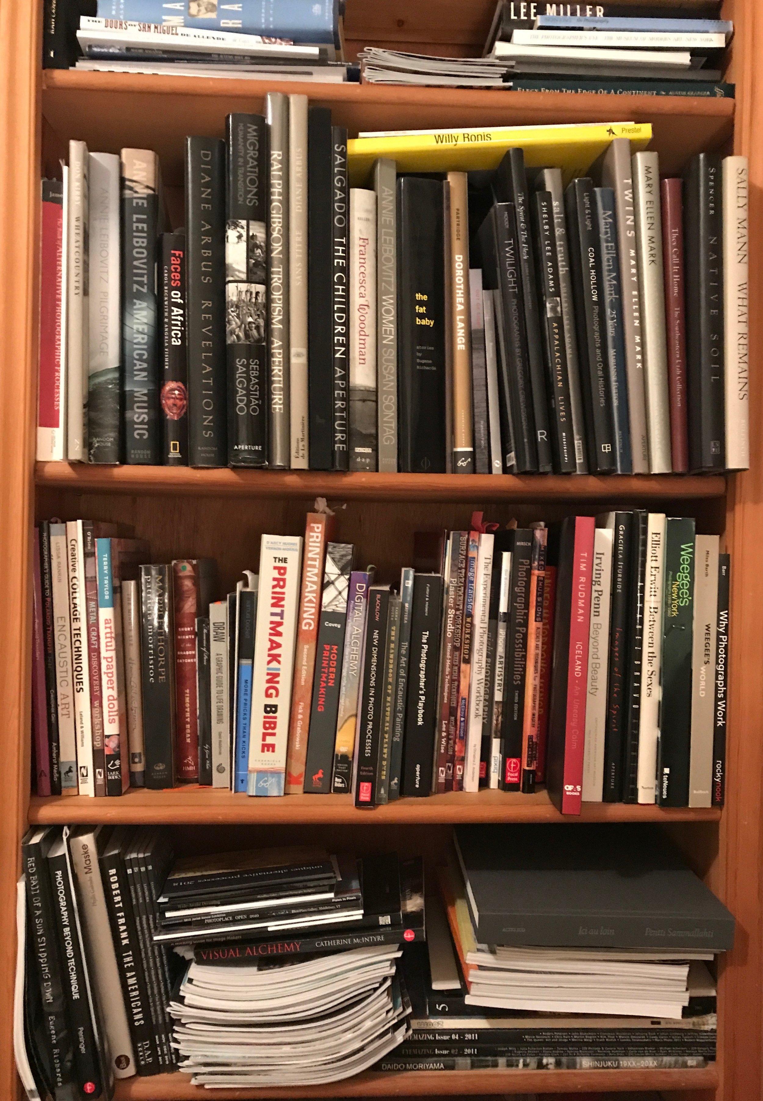 Classic photobooks in  Susan de Witt 's library