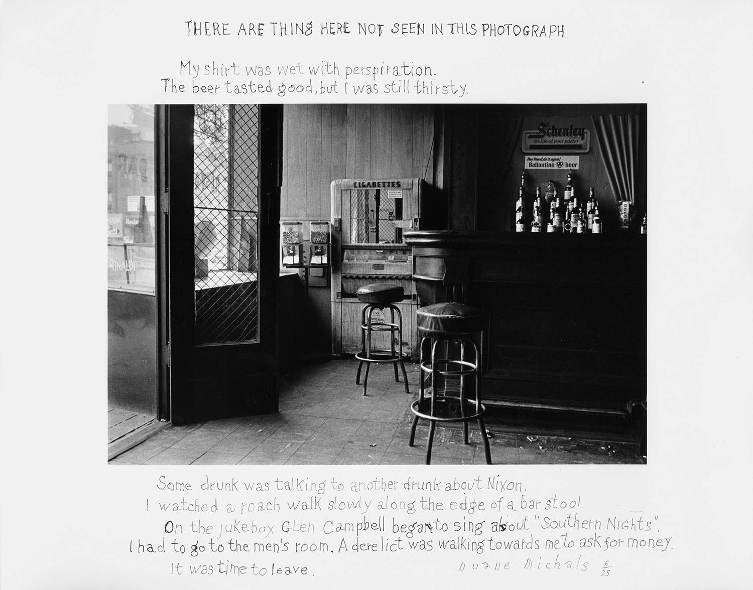 There are Things Here Not Seen in This Photograph, 1977. Photo by Duane MIchals