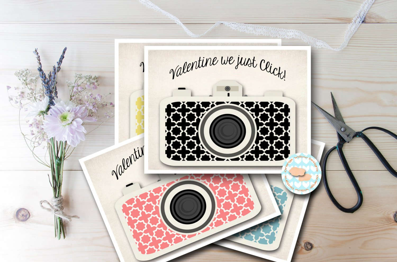 We Just Click downloadable valentine by  Orange Willow Designs