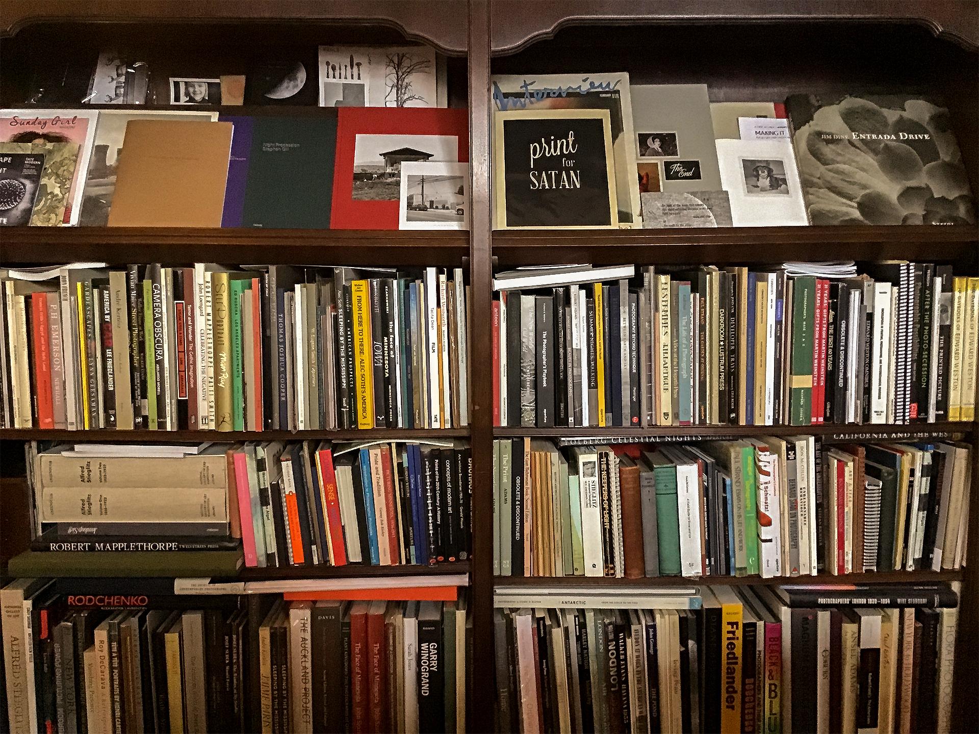 Beautiful display bookshelves house  Keith Taylor 's photobook library.