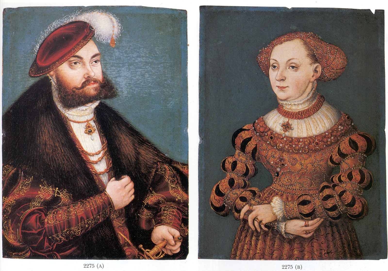 """Double Portrait of Elector John Frederick of Saxony and His wife Sibylle of Cleve,"" which was stolen by Stéphane Breitwieser and presumably destroyed (via  Wikimedia Commons )"