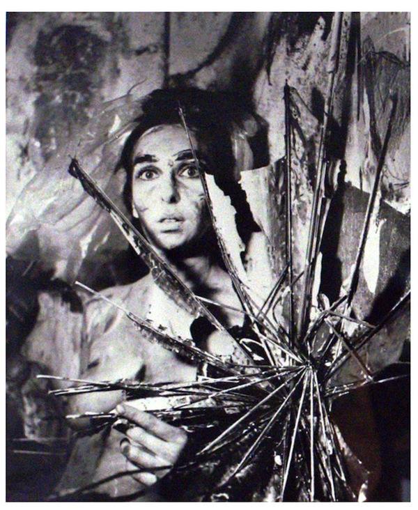 Carolee Scheemann,  Eye Body 24 , 1963, gelatin silver print. Courtesy P.P.O.W
