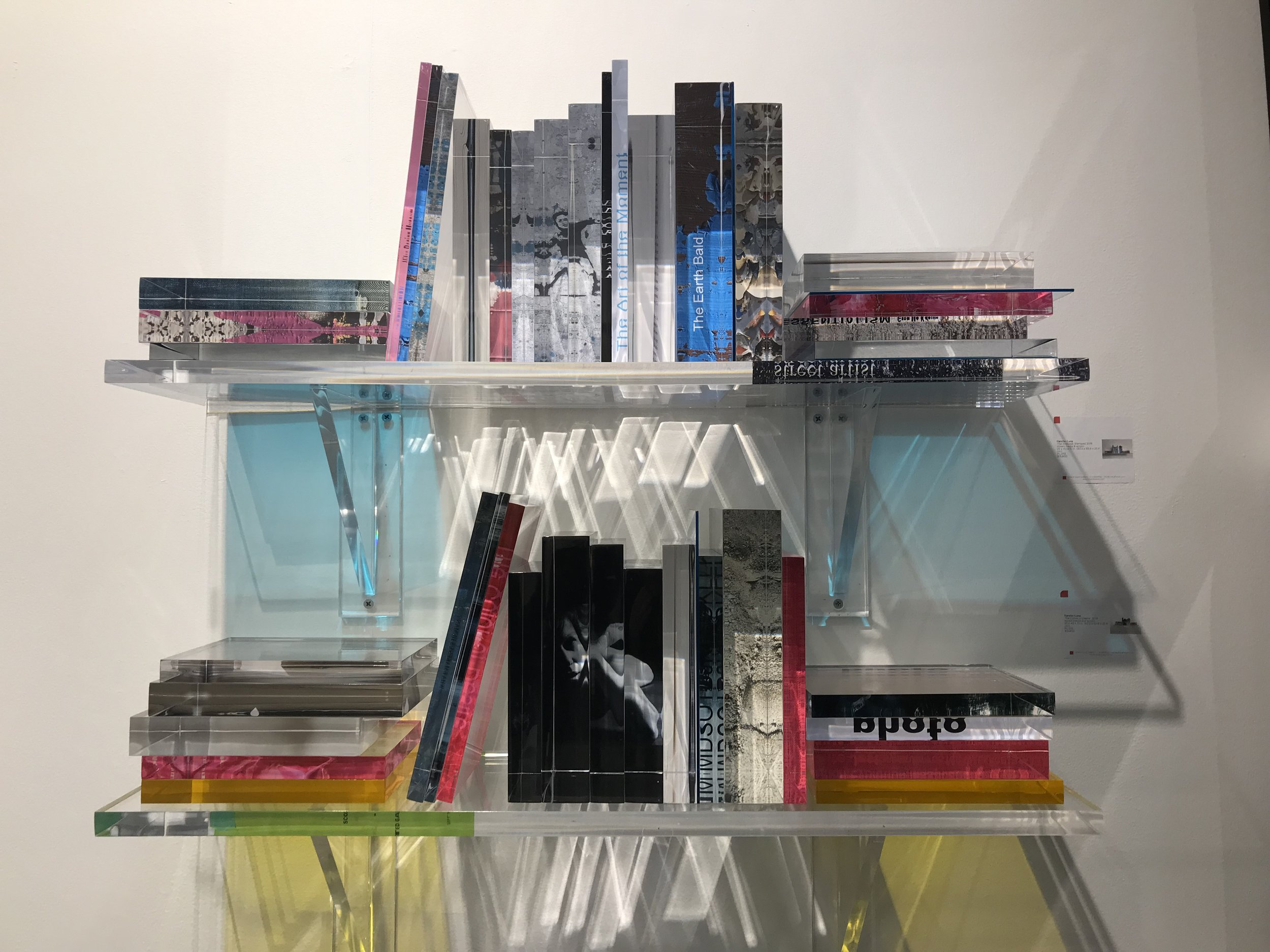 Not meant for reading, Pancho Luna's acrylic sculpture of his art book library is on view at Art on Paper this weekend.  The Colors of Desire , 2018, mixed media and acrylic