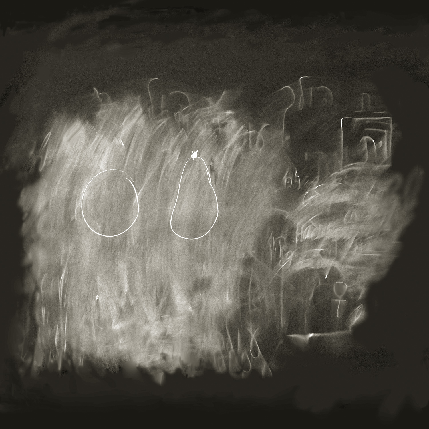 Apple Pear  from the series  Erased Chalkboards ,  Daniel Ranalli