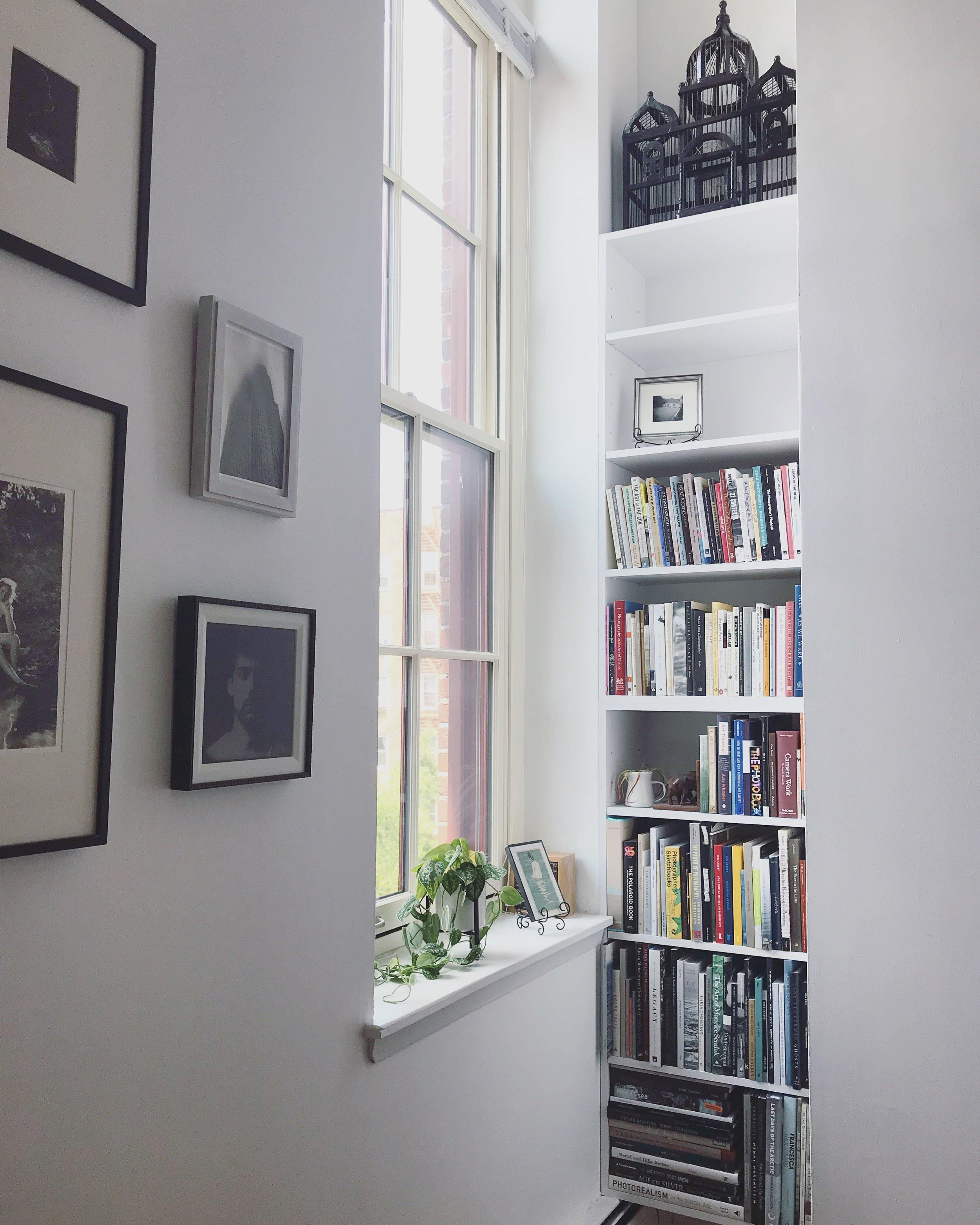 Kat's corner shelves.
