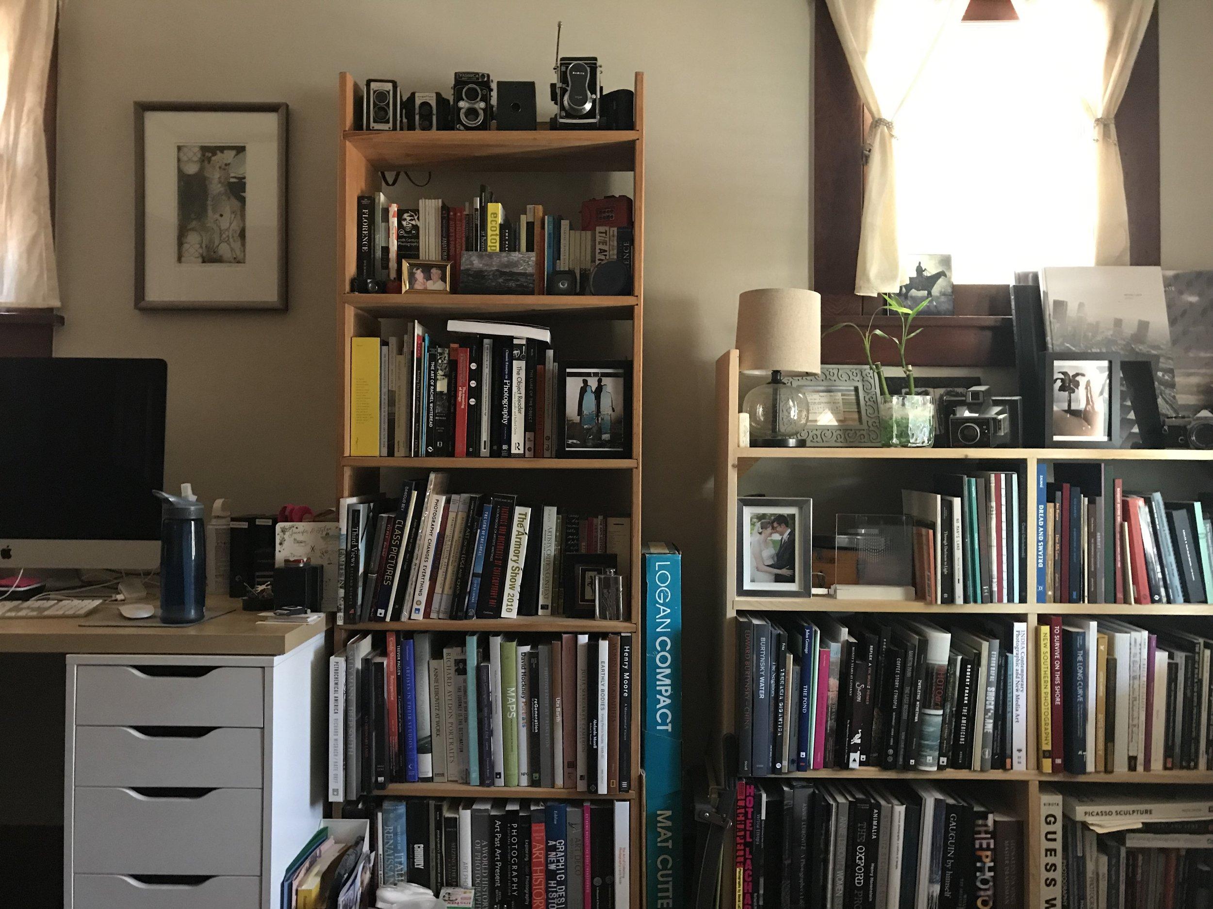 Samantha Johnston 's office library.
