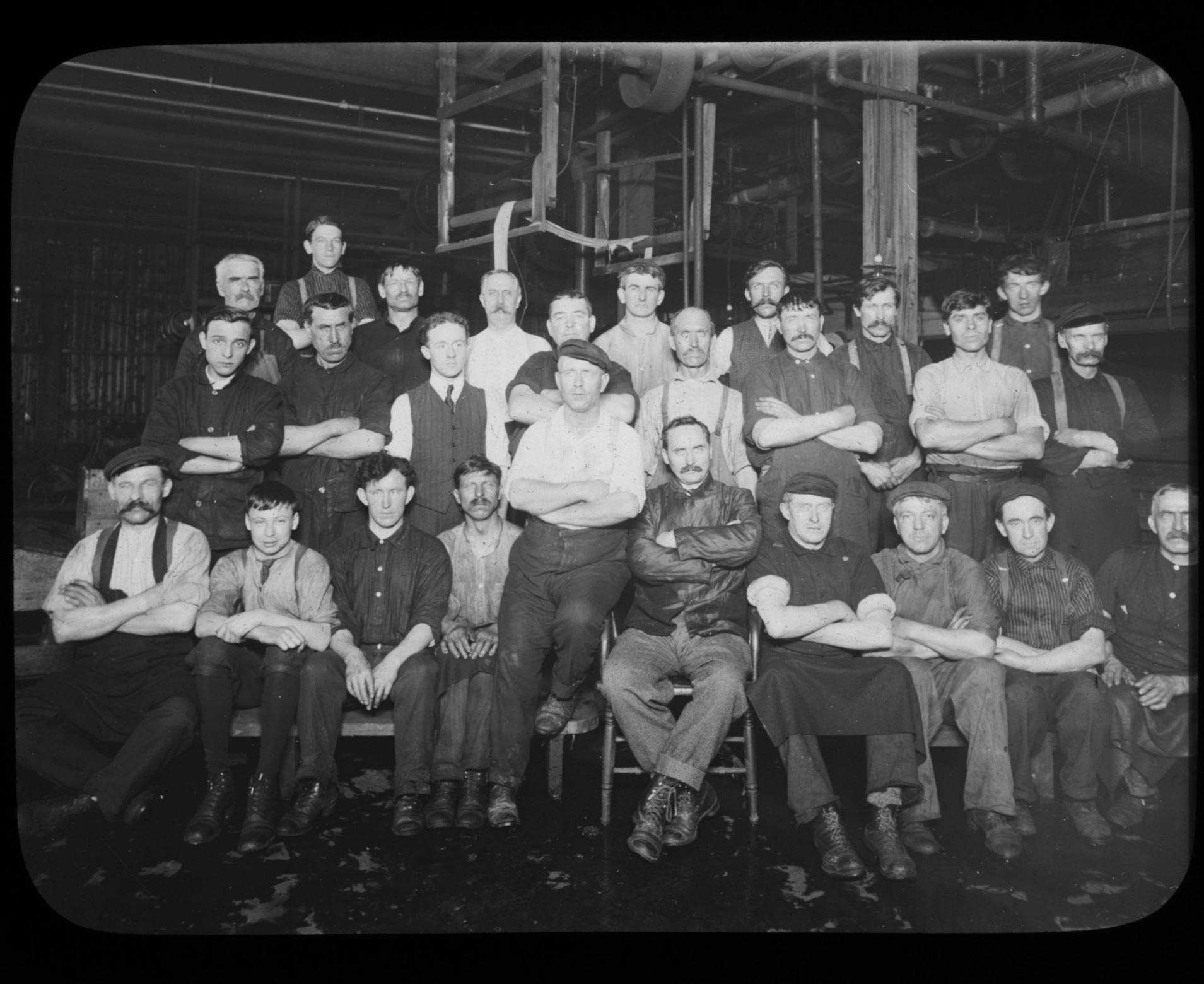 Dye House group, 1912, Lawrence, MA