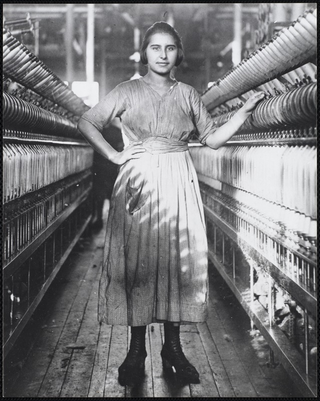 Mary Tomacchio, 15-years-old, Ayer Mill, c. 1918, Lawrence, MA