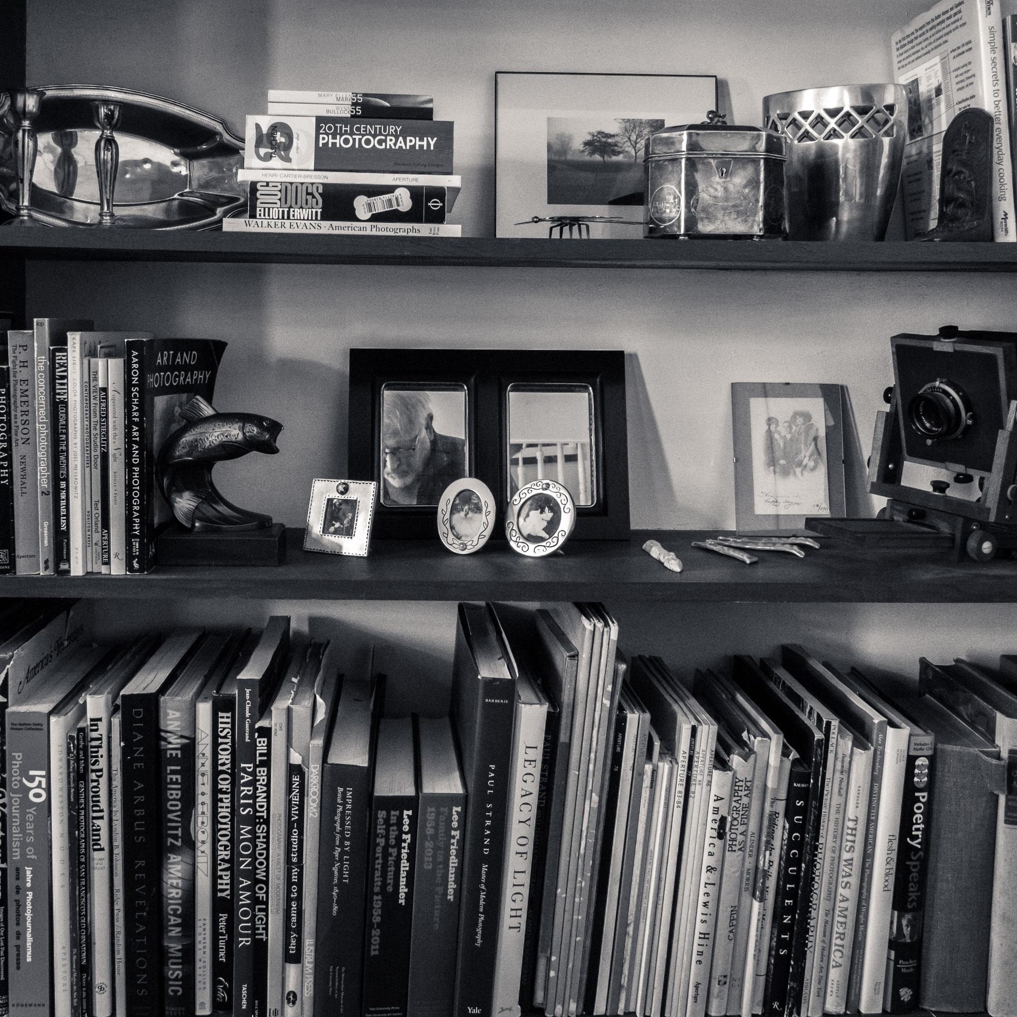 Nick Van Zanten 's photobook library in black-and-white