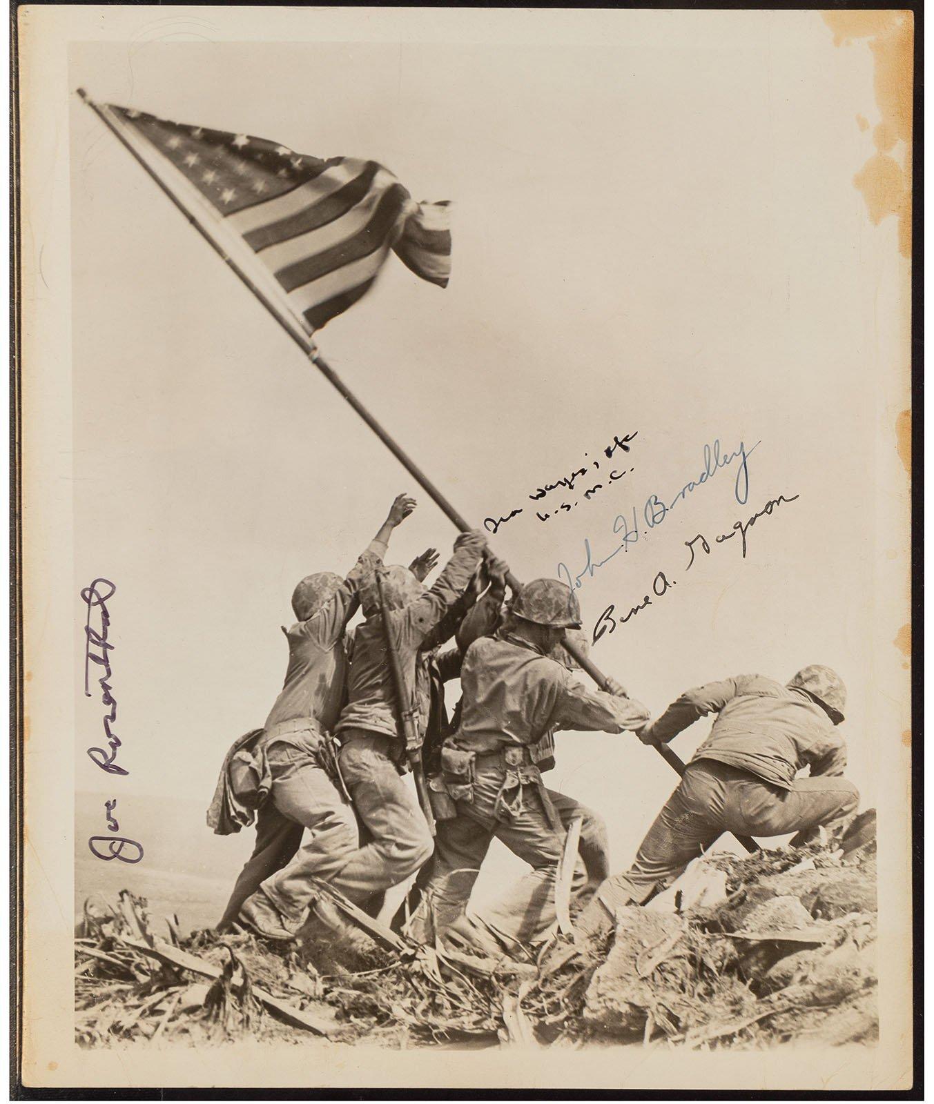 Raising the Flag on Iwo Jima  by Joe Rosenthal. Photo courtesy of Heritage Auctions