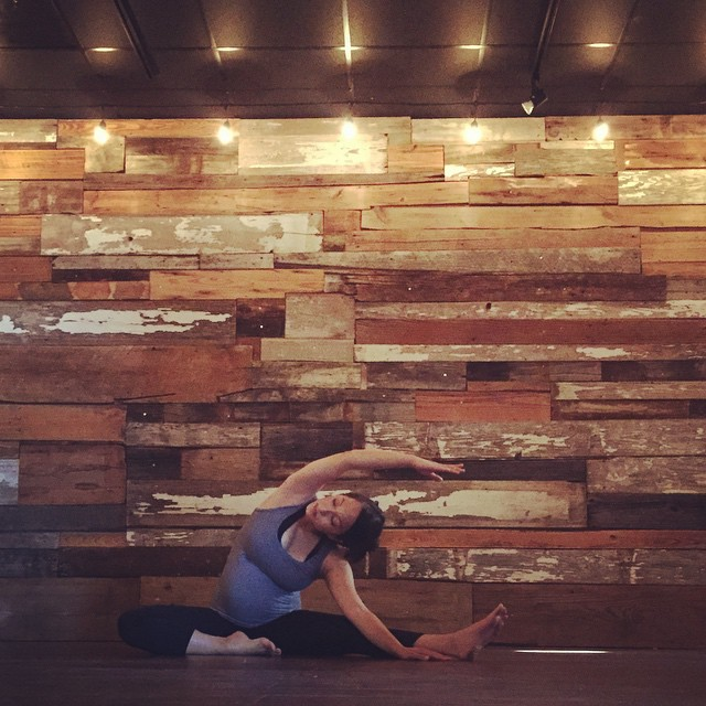 Tierney Hernandez teaching Holy Yoga at Collective Church