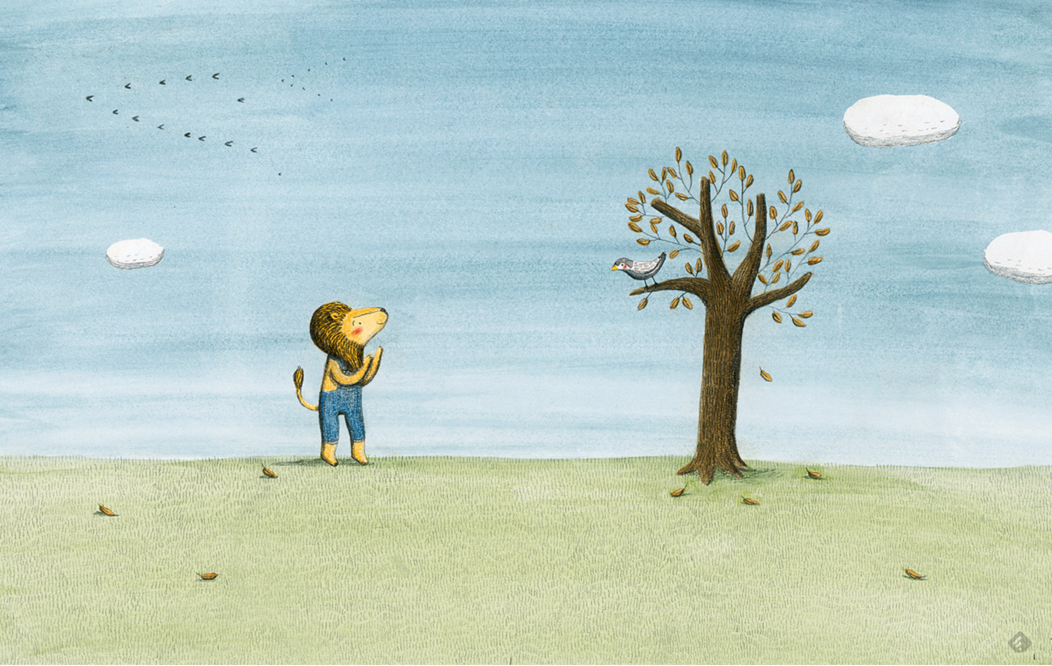 From The Lion and the Bird by Marianne Dubuc