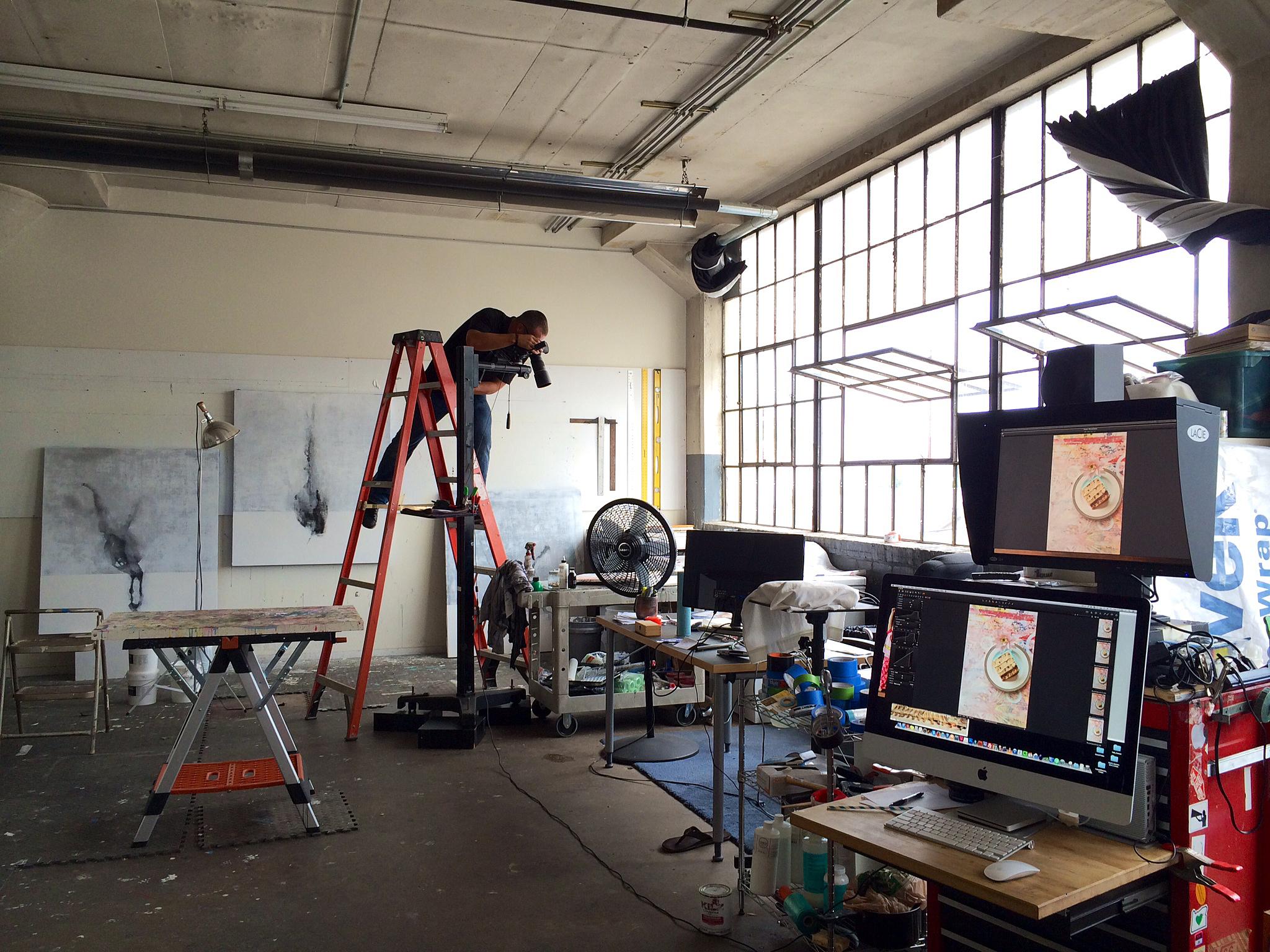 Andrew Wapinski's Studio @ Globe Dye Works. aka my studio neighbor... photo by: Mathew Duffy