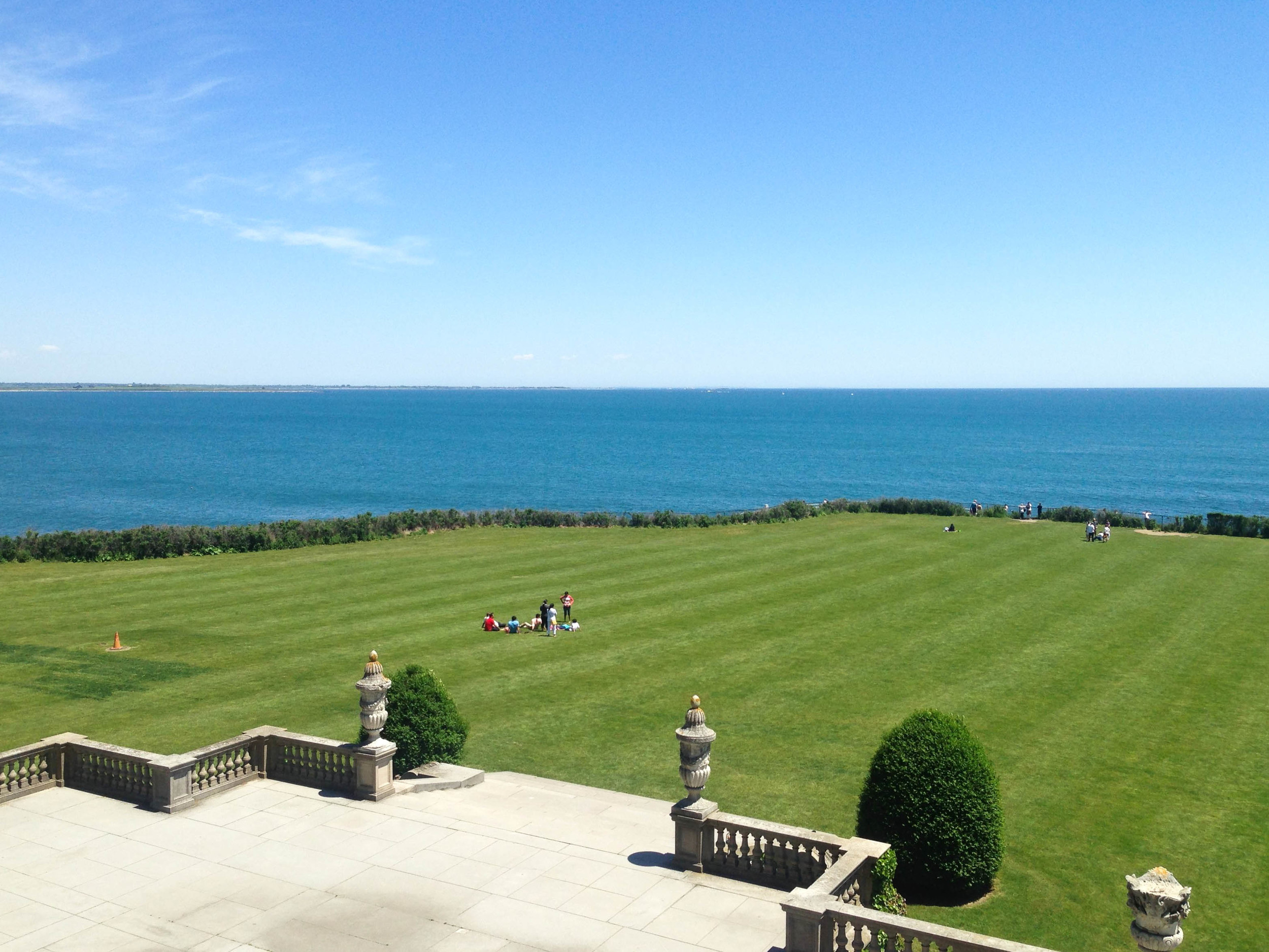 View from the second story of The Breakers