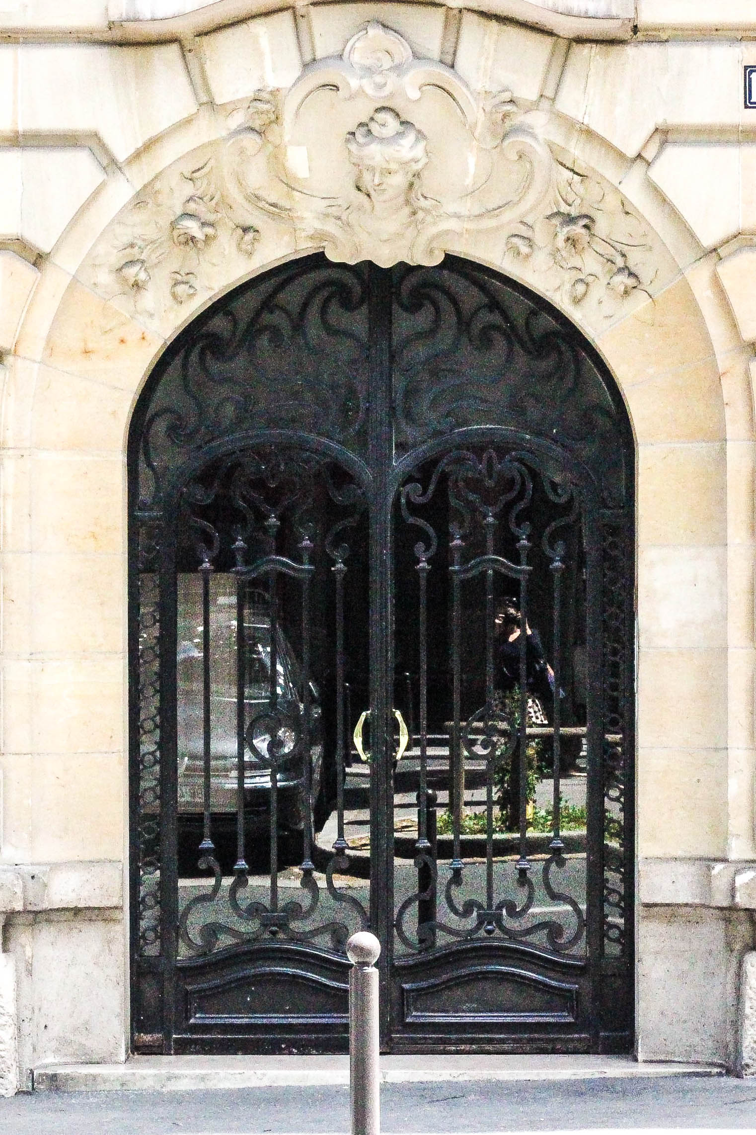 perks of parisian styled apartments: gorgeous front entrances