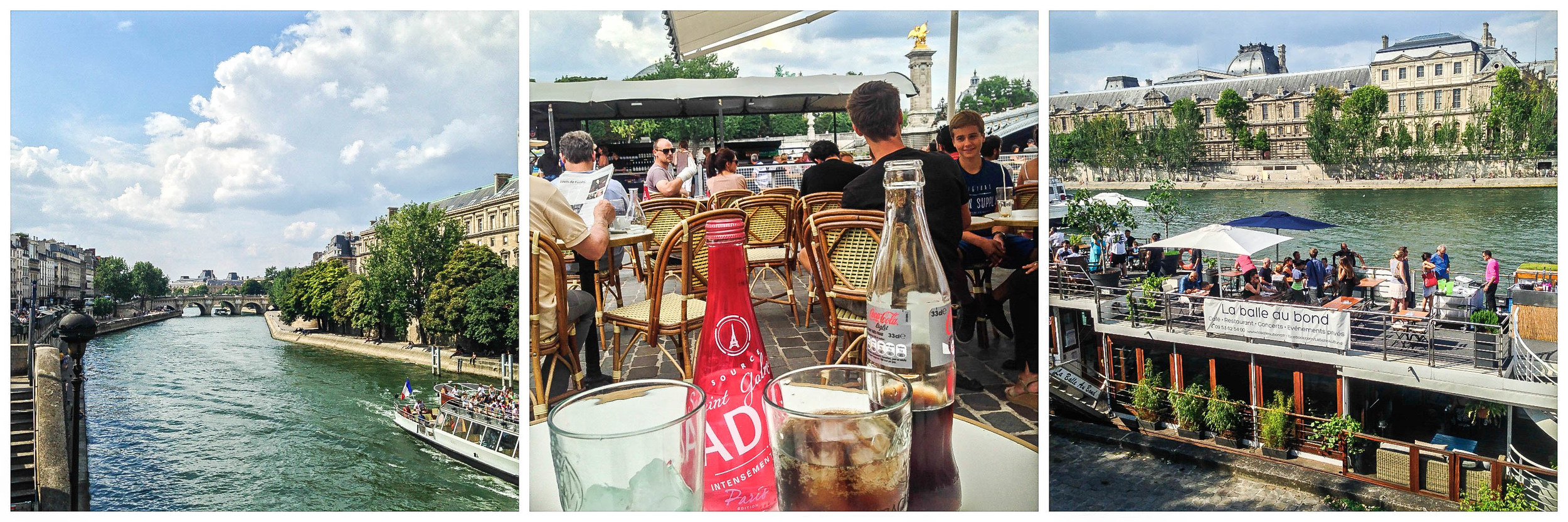 cafés on the Seine