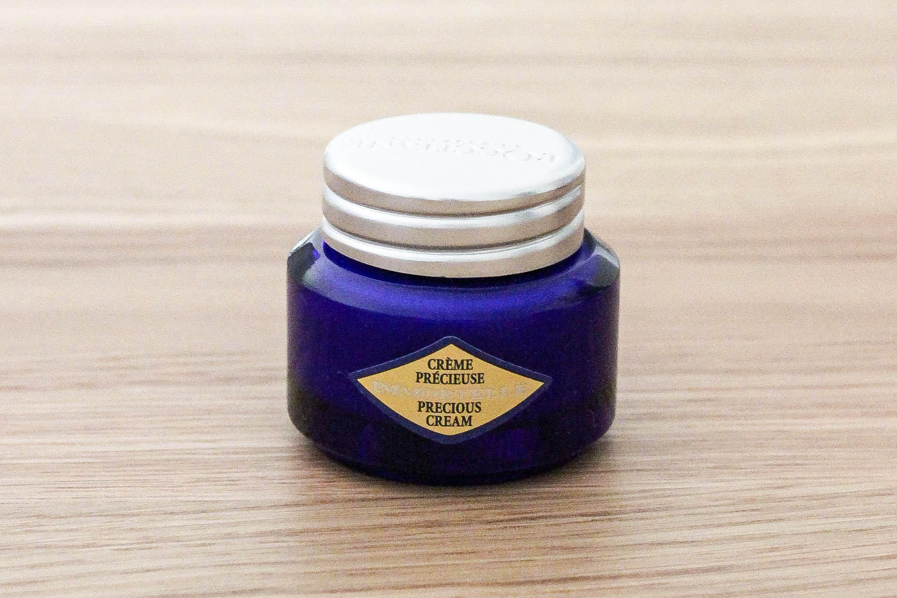 A sample of the famous L'Occitane Precious Cream. Very rich, perfect for the coming fall season.