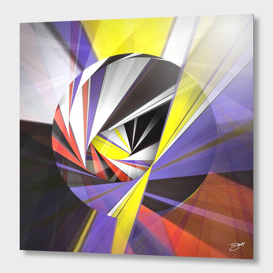 """Mondrian's Makeover"" | Exclusive Edition Aluminum Print"