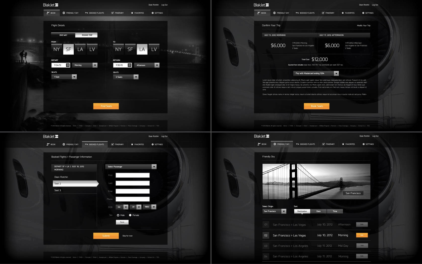 BlackJet Website