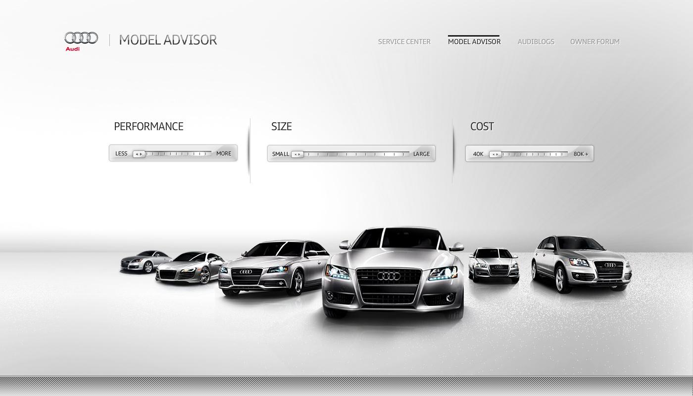 Audi Model Advisor