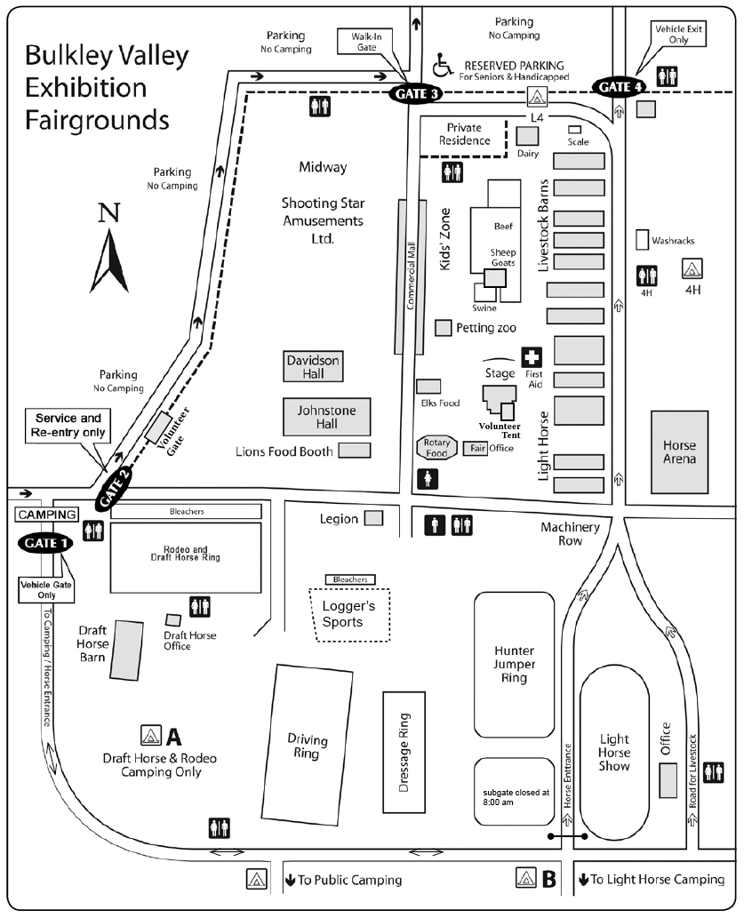 Bulkley Valley Exhibition Grounds Map