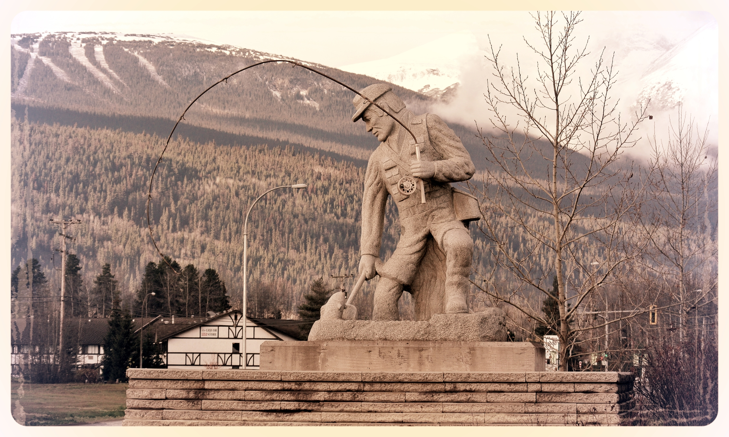 Angler Statue Smithers - Smithers Rodeo Club